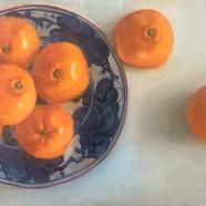 020, 일곱 개의 귤, 44 x 24 cm, oil on canvas,