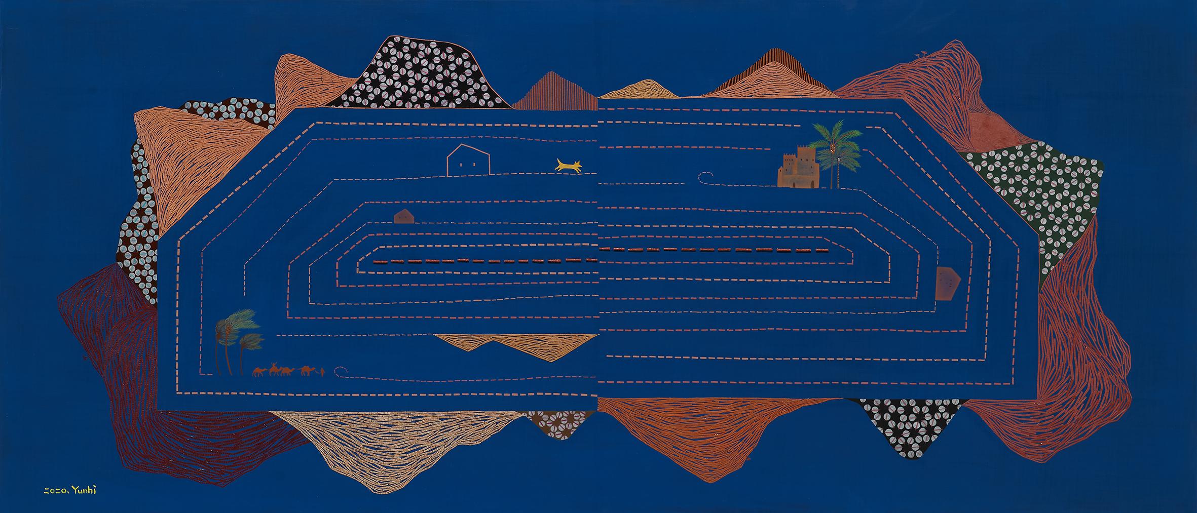 024, 최윤희, Mind map 20-16, 140 x 60 cm, 캔