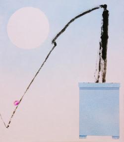 오관진 3 비움과 채움(복을담다), 45x53cm, 혼합재료, 2018.