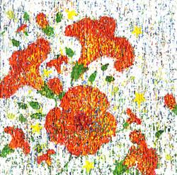 017, 변해정, 작은 능소화 III, 20 x 20 cm, 캔버스에 아