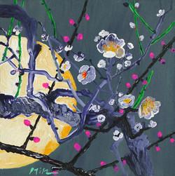 018 민해정수, 달빛매화, 31.8 x 31