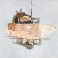 016, 이부강, 꿈꾸는 섬, 53 x 40 cm, Mixed media