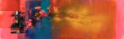 연상록1, 기억의 소환-춘몽-, 34 x 104 cm, 캔버스에 유화물감