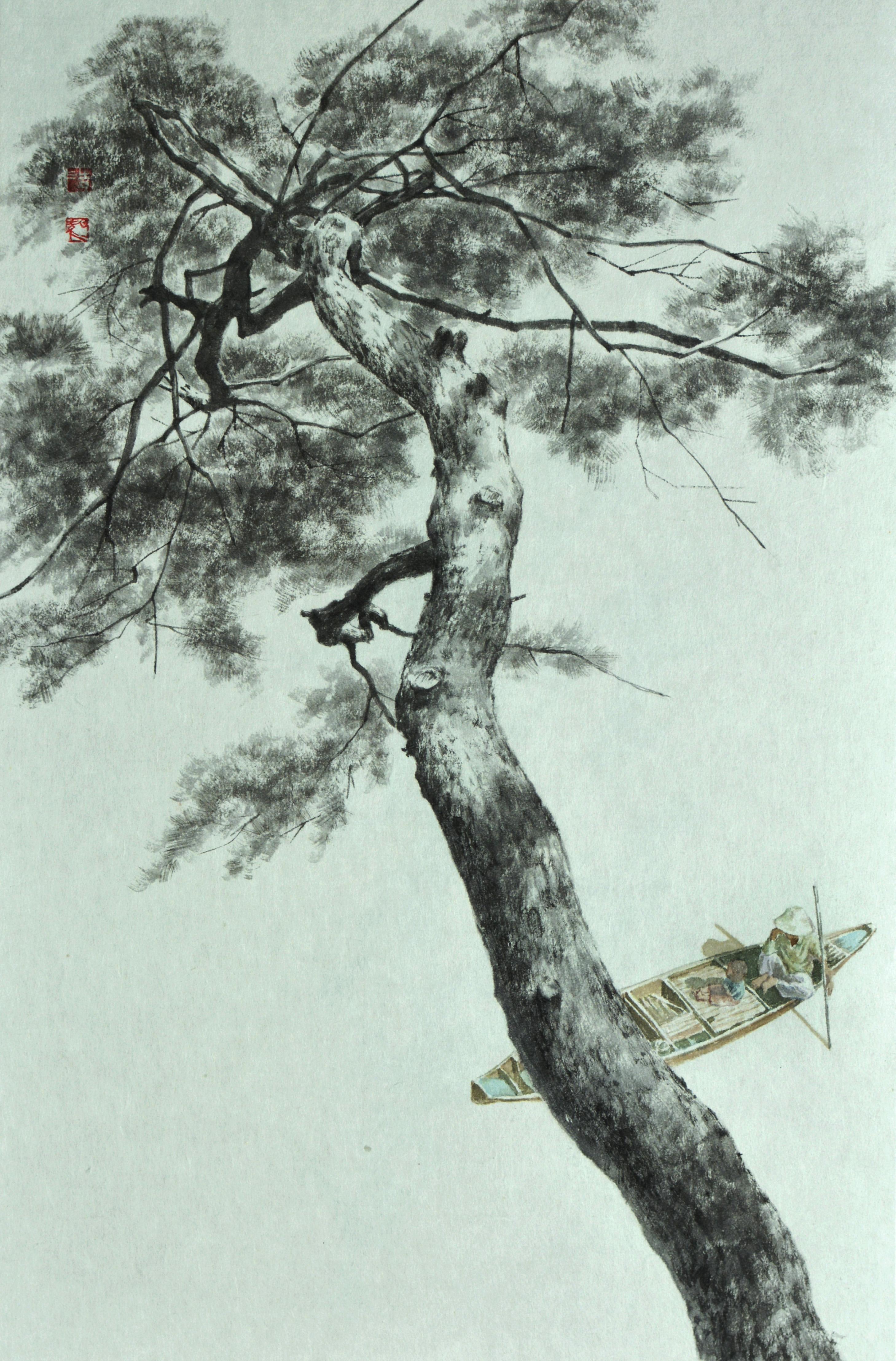 송승호1, 정 情, 35.2 x 53.0 cm, 한지에 수묵, 2020.