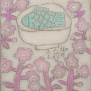 조수정, 011, 마음 그릇2, 30.5 x 45.5 cm, 삼베캔버스에