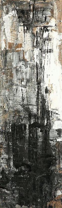 연상록, 적벽강의 겨울서정, 61x18.5cm, 아크릴 및 유화, 2017_3