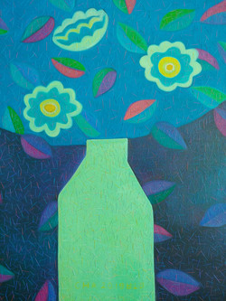 차명주, 푸른정물, 37.9 x 45