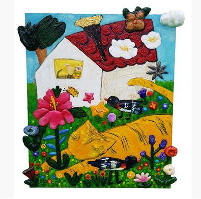 구채연, 꽃마중, 65 x 76 cm, mixed media on can