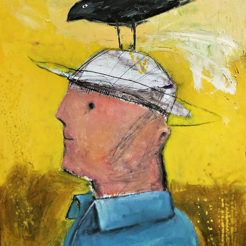 008, 최우, 농부, 45.5 x 53.0 cm, oil, pencil