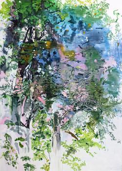 011, 박계숙, 나르시스의 정원-여름2, 27 x 165 cm, 아크릴