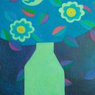 010, 차명주, 푸른정물, 37.9 x 45.5 cm, oil on c