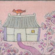 조수정, 010, 늘 봄이 머무르는 집, 71 x 56 cm, 황마캔버스