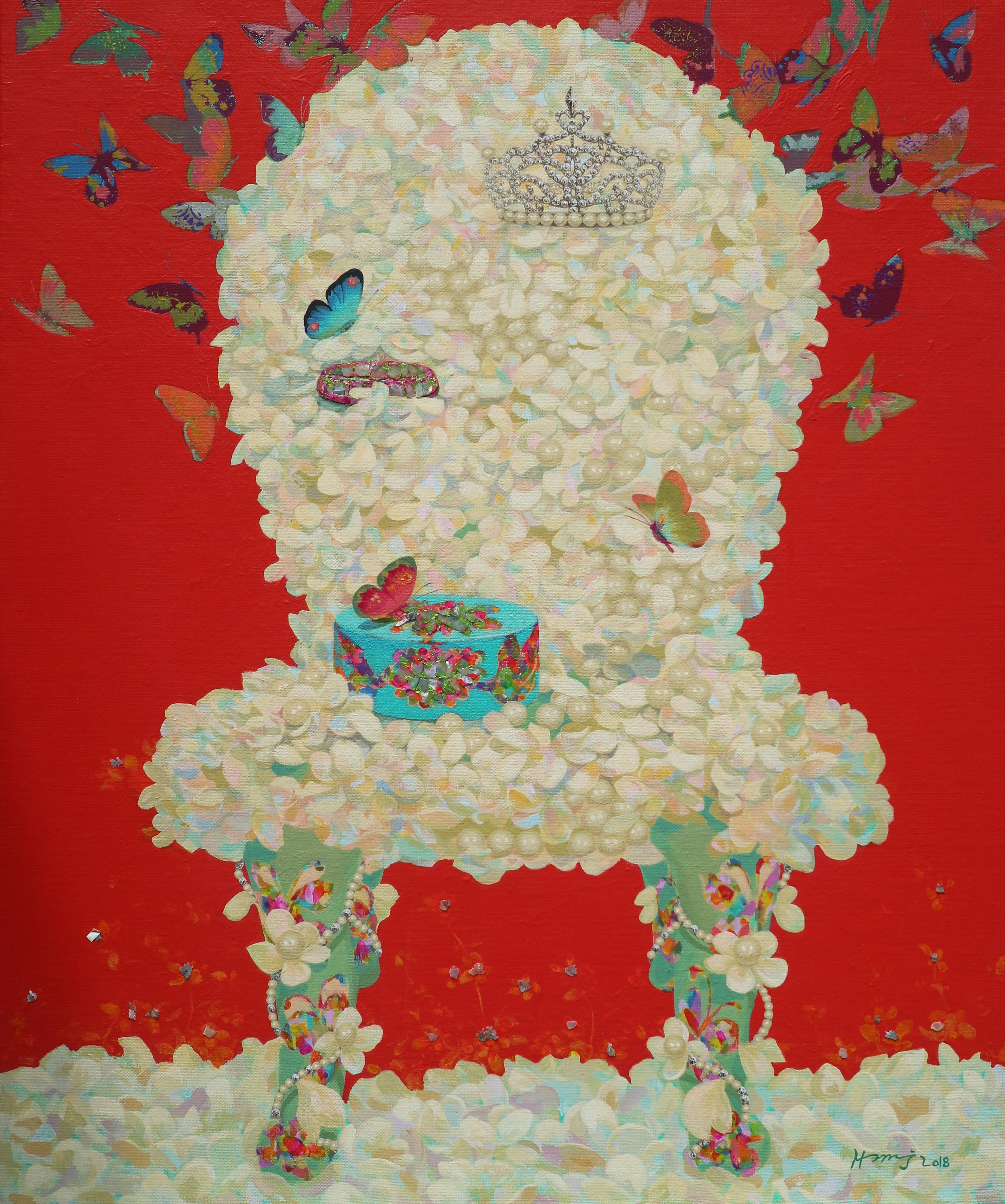 그녀의 웨딩 72.7x60.6cm Acrylic on canvas 2018