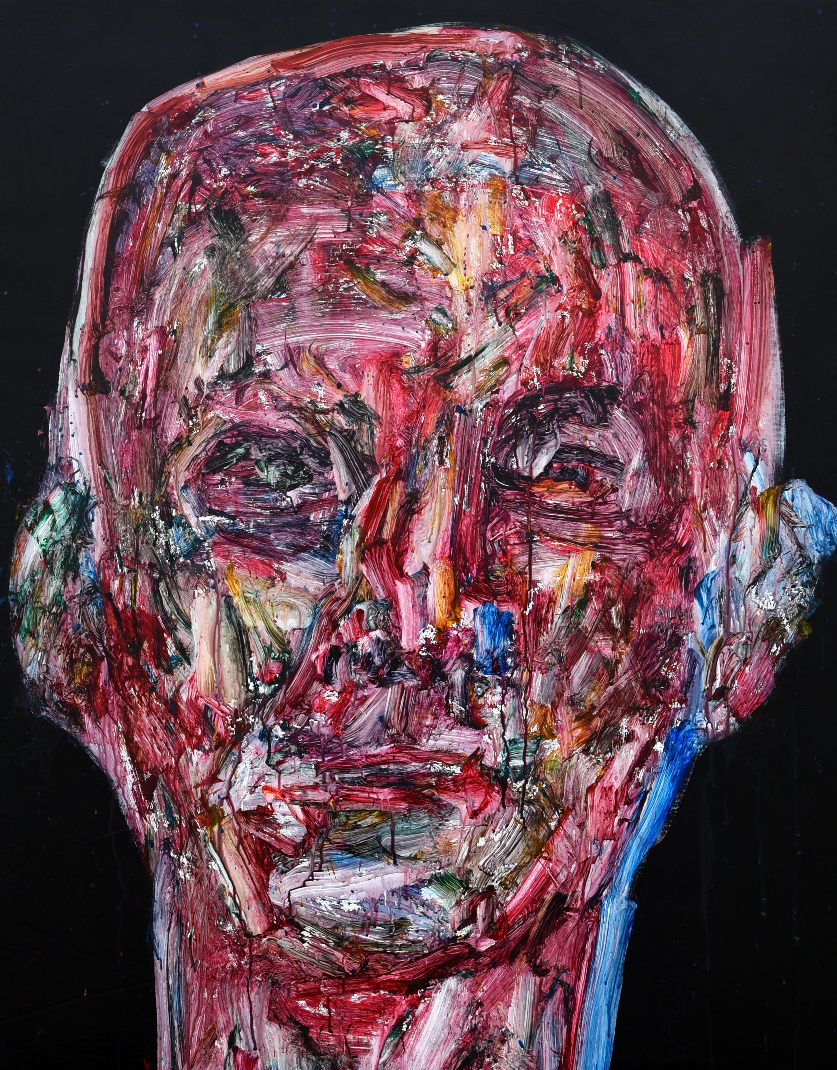 014, 정의철, 붉은얼굴, 91.0 x 116