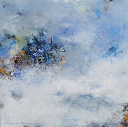 권영범2, 어떤여행 (un Voyage), 29 x 29 cm, oil