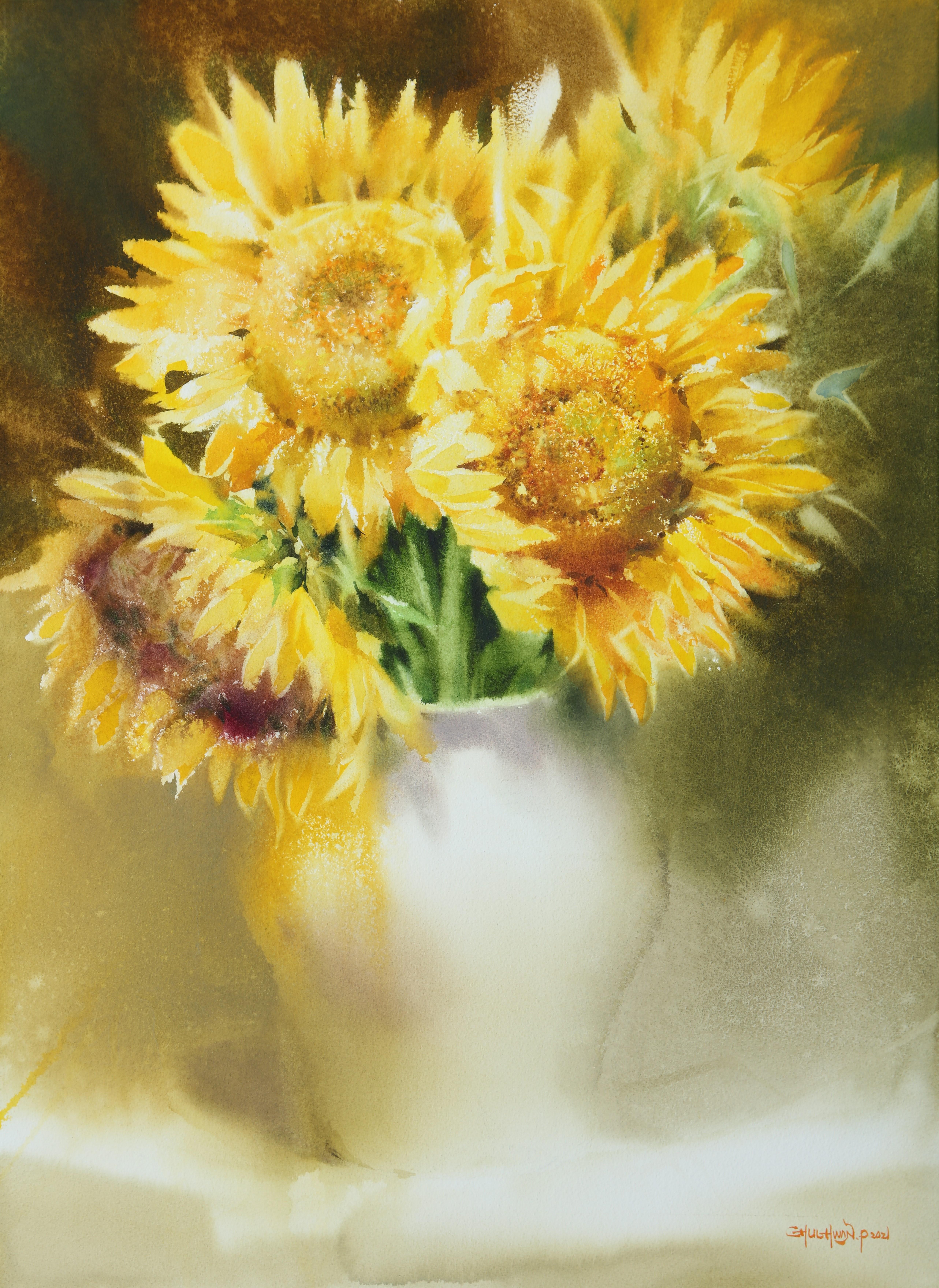 009, 박철환, Sunflower, 72.7 x 53