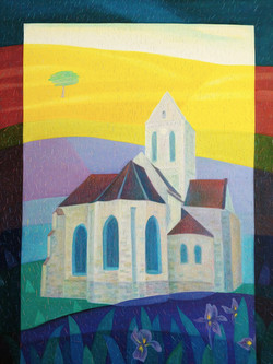 차명주, 오베르교회, 60.6 x 72