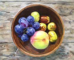 033, 웰컴 과일, 27 x 22 cm, oil on canvas, 2