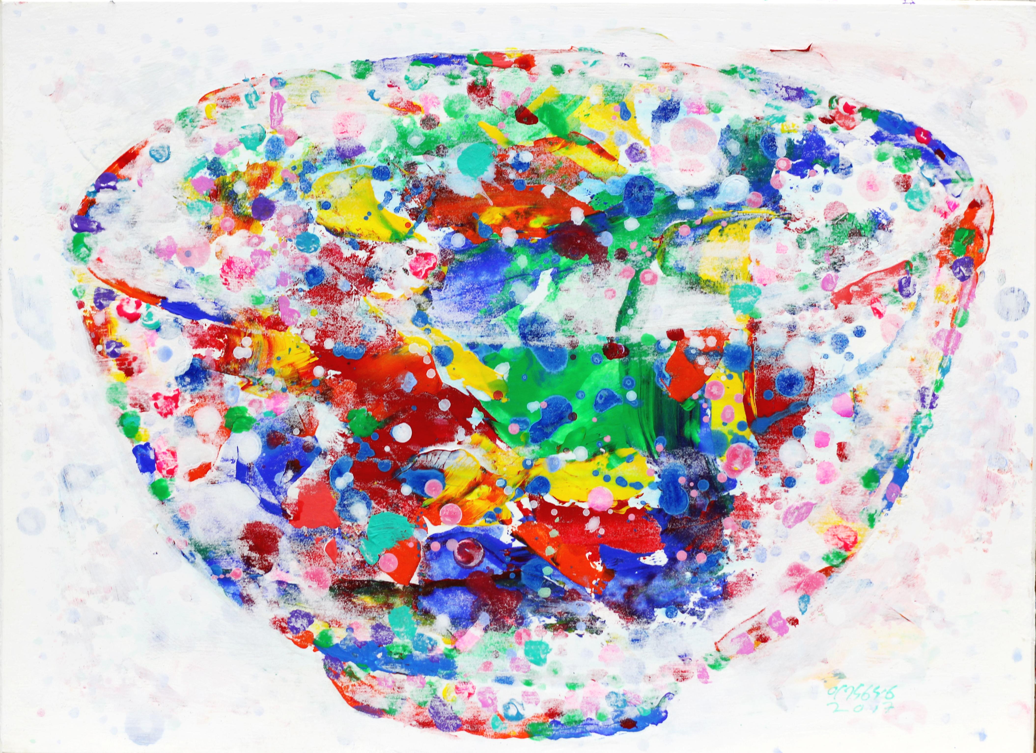 그릇, 33 x 24 cm, 보드 위에 혼합재료, 2017