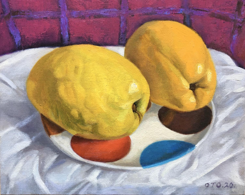 001, 두 개의 모과, 30 x 24 cm, oil on canvas,
