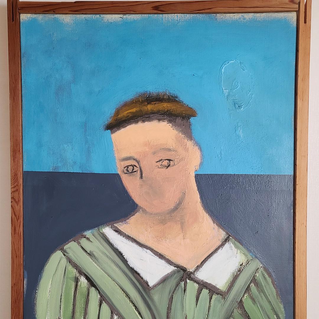 013, 최우, blue, 60.6 x 50.0 cm, oil on ca