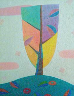 차명주, 꽃지고 저무는 봄, 27.3 x 34
