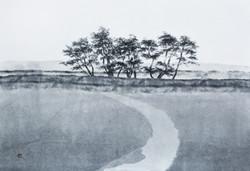 송승호1, 용눈이오름을 지나다, 65.2 x 45