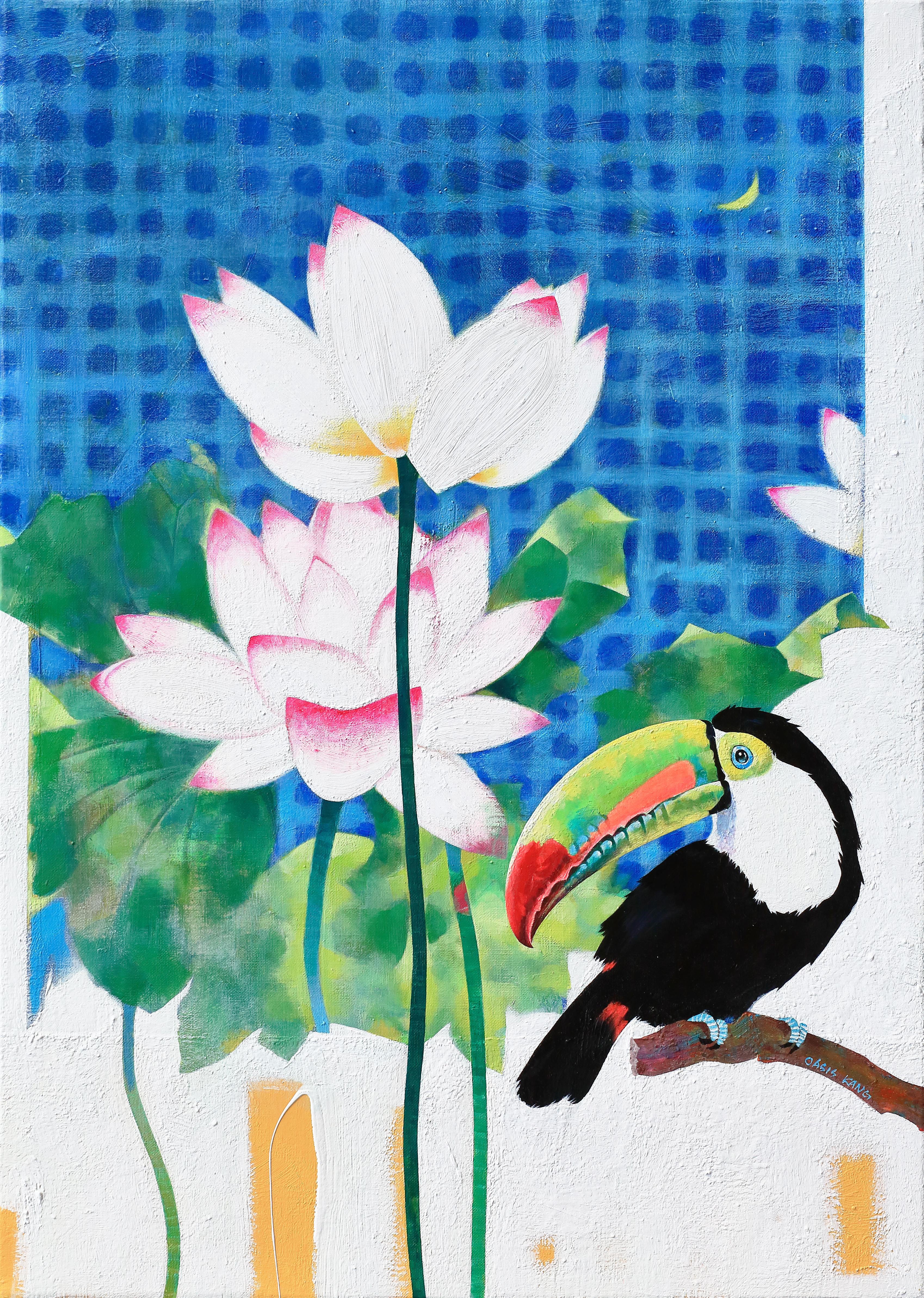 강라희, Oasis-꽃으로 피어나다, 65 x 91 cm, Acrylic