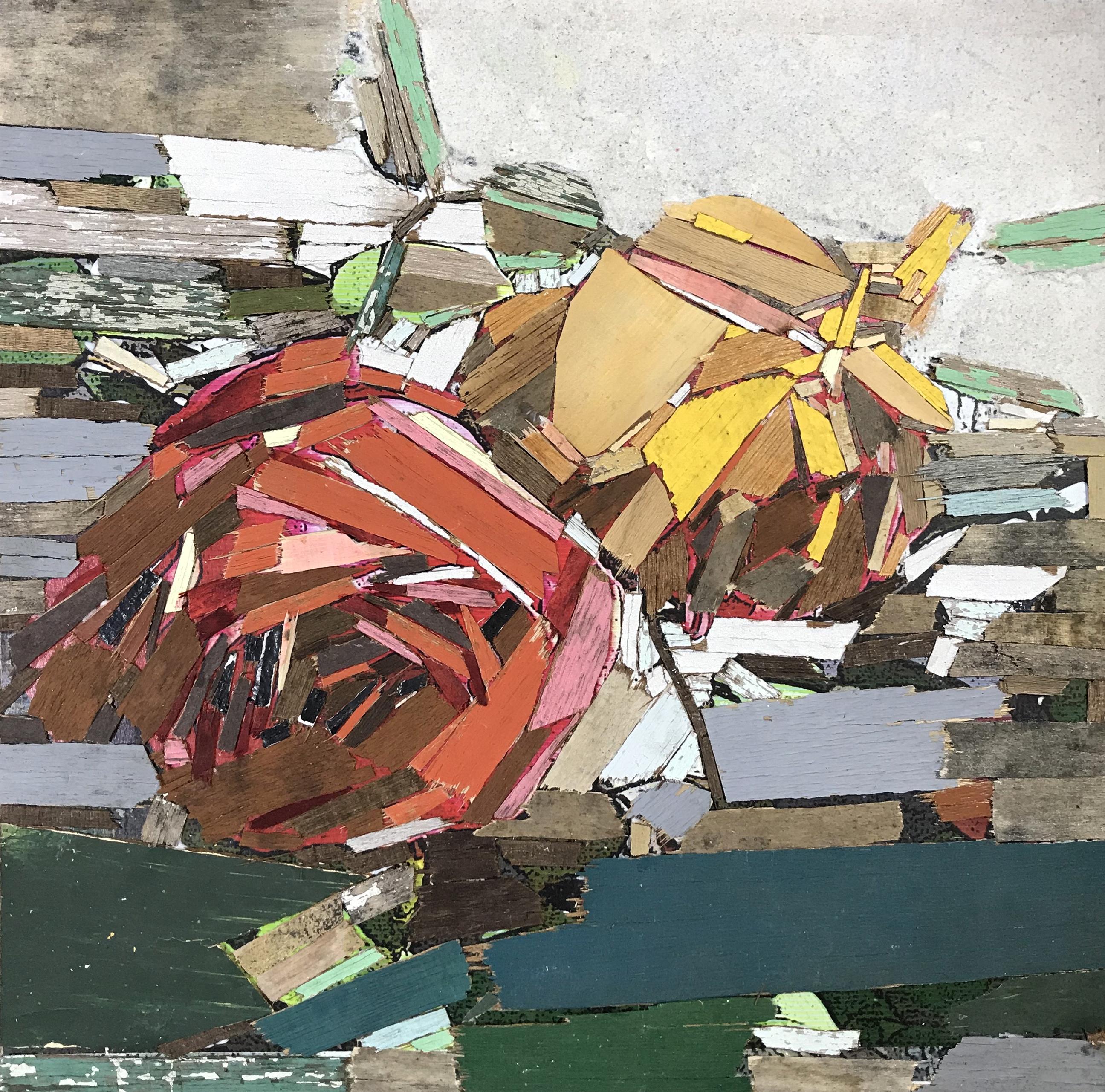이부강1, trace flowers, 30 x 30 cm, mixed m