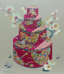 그녀의 봄 (10F)       45.5 x 53cm    Acrylic on canvas 2016