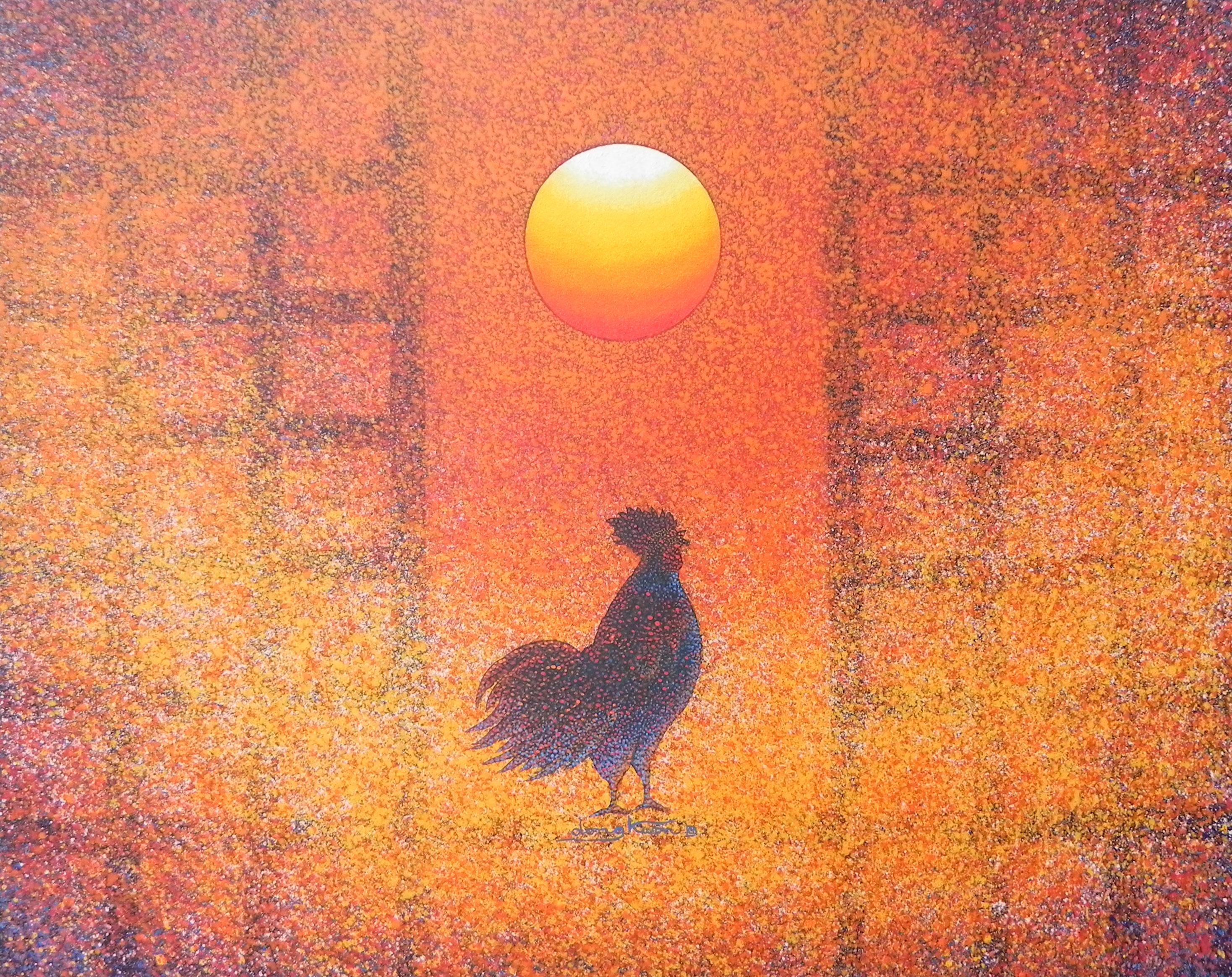 신동권, 日出 - 信望愛, 90.9x72.7cm, 캔버스 위에 아크릴