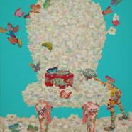011 소녀의 그리운 마중 72.7x60.6cm Acrylic on ca