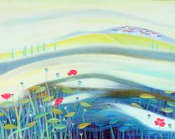 001, 차명주, 안개 낀 프로방스, 72.7 x 90.9 cm, oil on canvas, 2021, 750만원