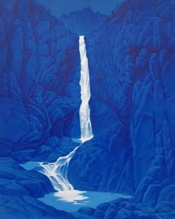 구룡폭포, 72 x 91 cm, acrylic on canvas, 201