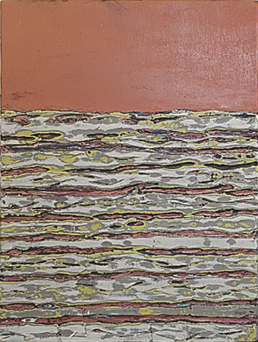 김재신5, 바다, 49.7 x 33.8 cm, 조탁기법, 2019
