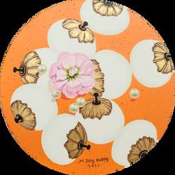 002, 황미정, 분첩2021-04, 30 x 30 cm, Acrylic