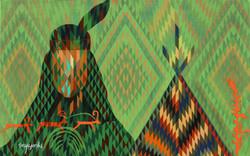 017, 최윤희, Mind map 21-16, 33.4 x 53.0 cm, 캔버스에 아크릴, 색동천, 2021, 150만원