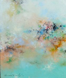 권영범6, 어떤 여행(Un Voyage), 36 x 31 cm, oil
