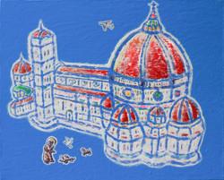 Piazza del Duomo, 캔버스위에 소멸침식, 72.7x60