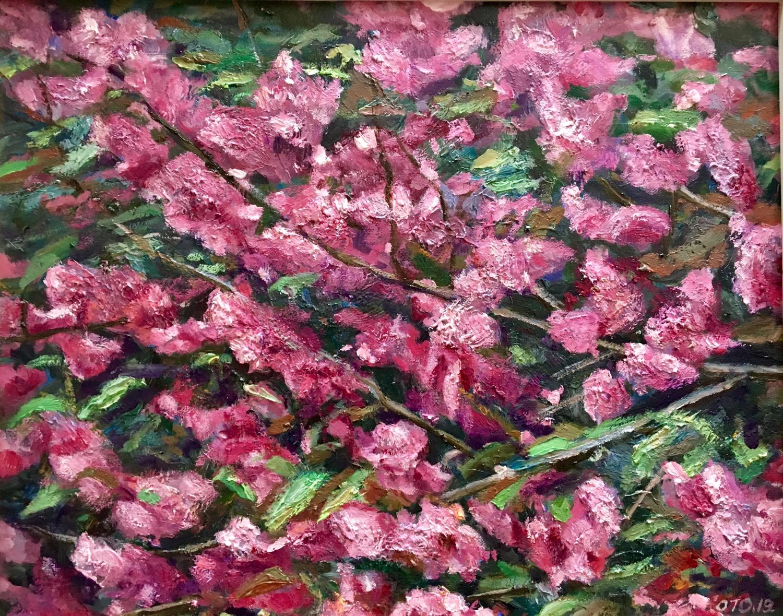 017, 박재웅, 개벚꽃, 50 x 40 cm, 보드 위에 유채, 201