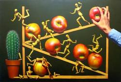 장필교, Running, 90.9x60.6cm, Acrylic on Canvas, 2013