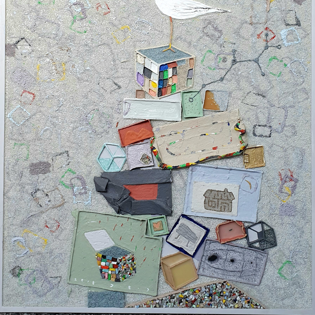 006, 김형길, 선물상자-통영갈매기18, 65.0 x 73.5 cm,