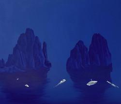 카프리블루(2) 45cmx 52cm canvas on acrylic201