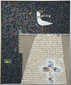 015, 김형길, 제일이라21, 72.7 x 60.6 cm, 캔버스 위에 혼합재료, 2021, 600만원