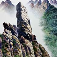 004, 자연-순환(설악산) 90x118cm canvas on acryl