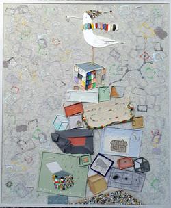 006, 김형길, 선물상자-통영갈매기18, 65.0 x 73
