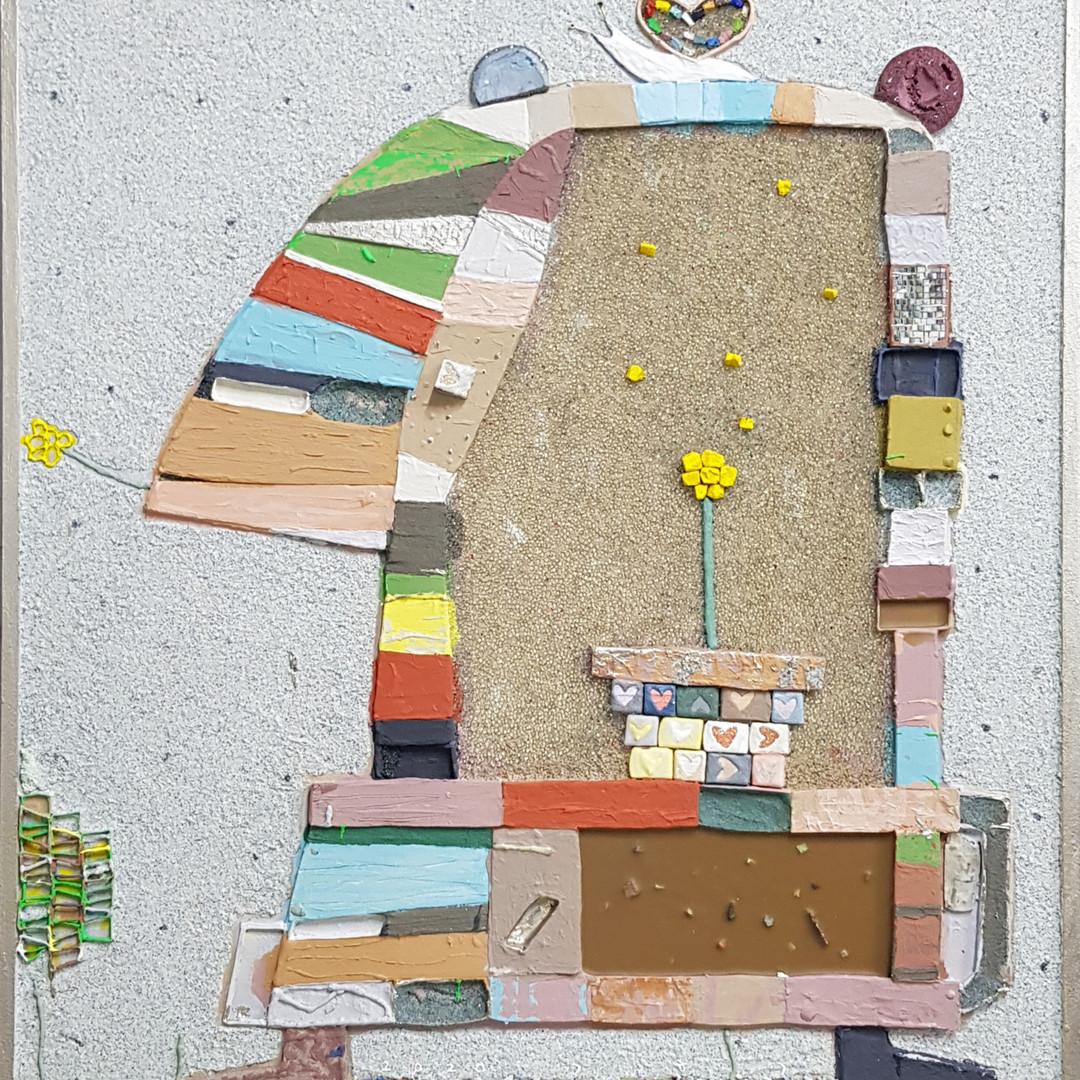 008, 김형길, 구리와 팽이, 72.7 x 60.6 cm, 캔버스 위에