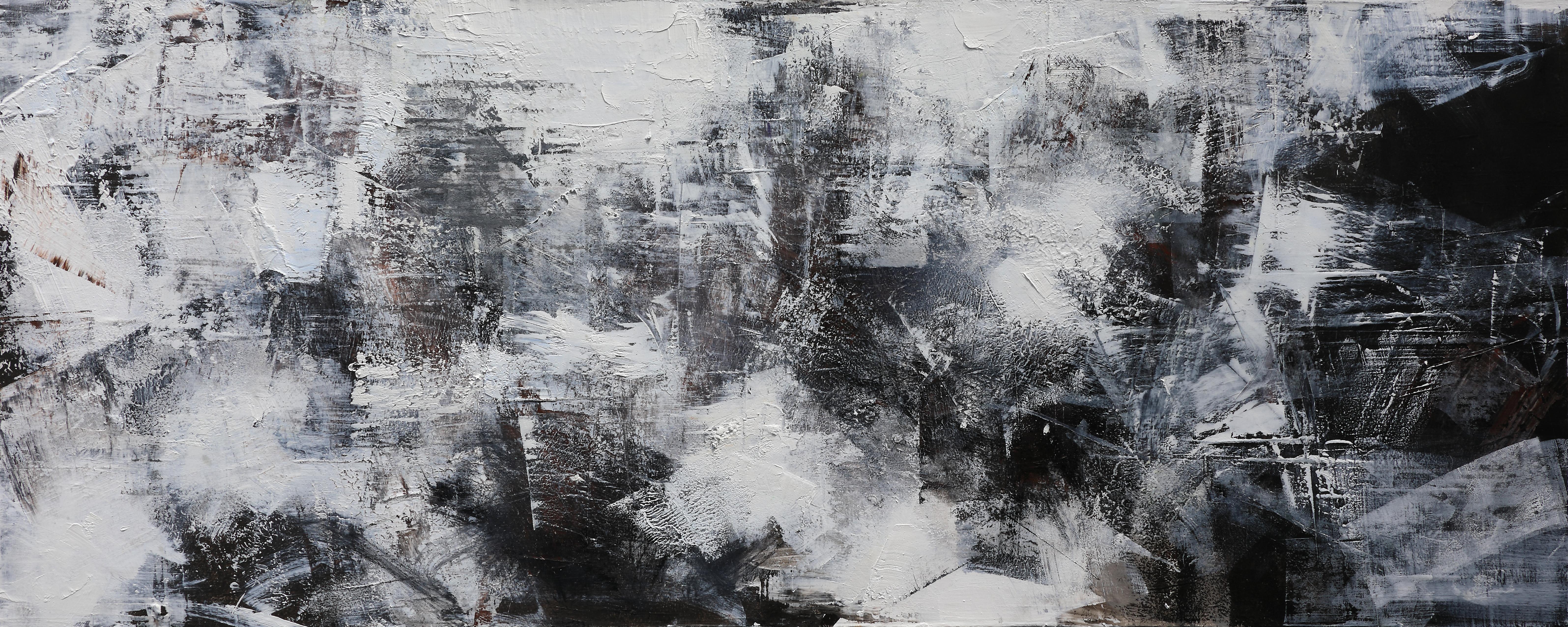 008, 연상록, 재너머 송학사 가는 길 -冬-, 180 x 70 cm,