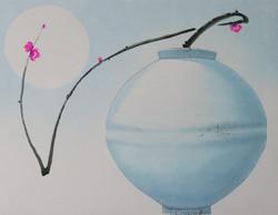 오관진2, 비움과 채움(사랑을담다), ,53 x 45 cm,한지에 혼합재