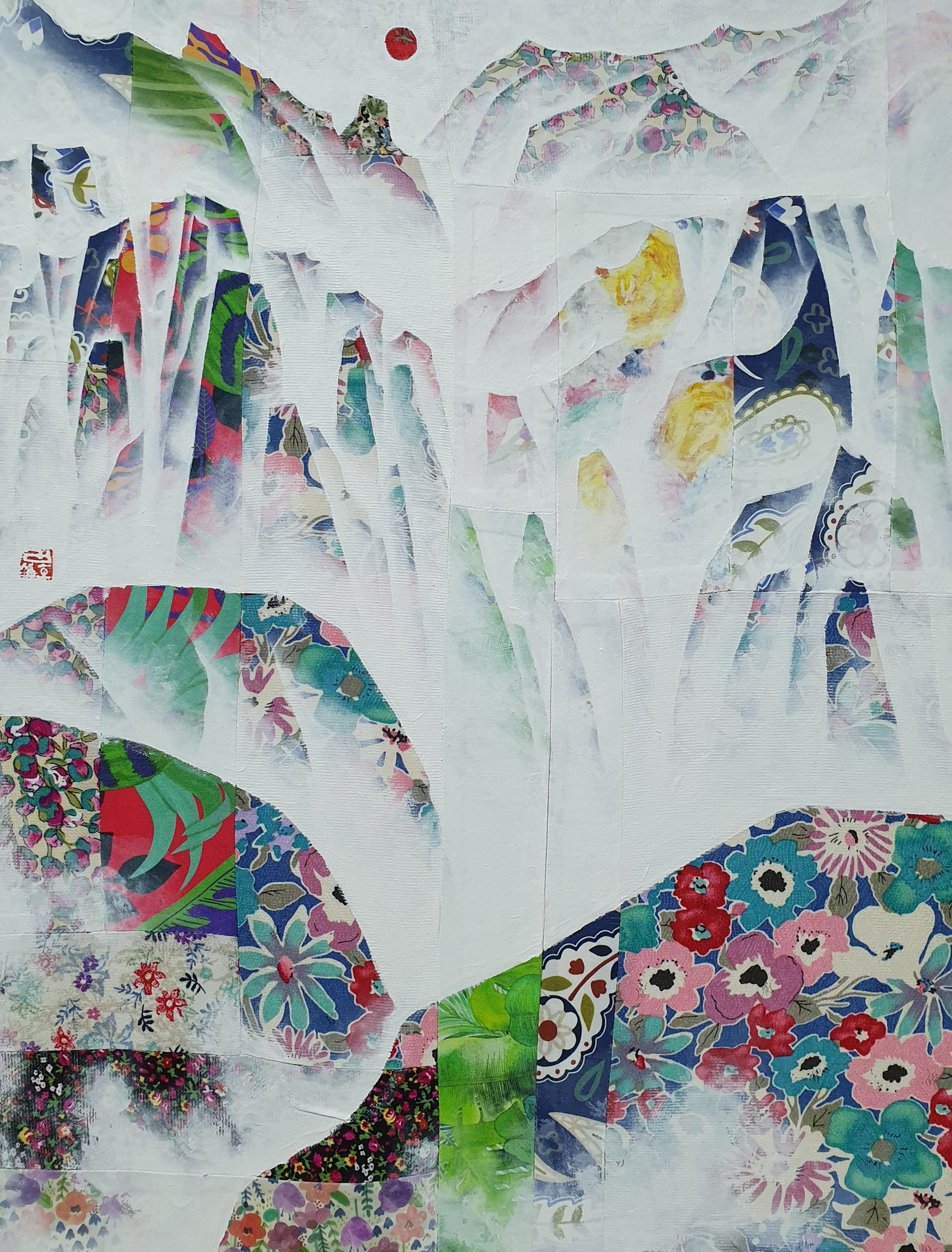 김성호2, 금수강산 19-2, 혼합재료, 41 x 53 cm, 2019.